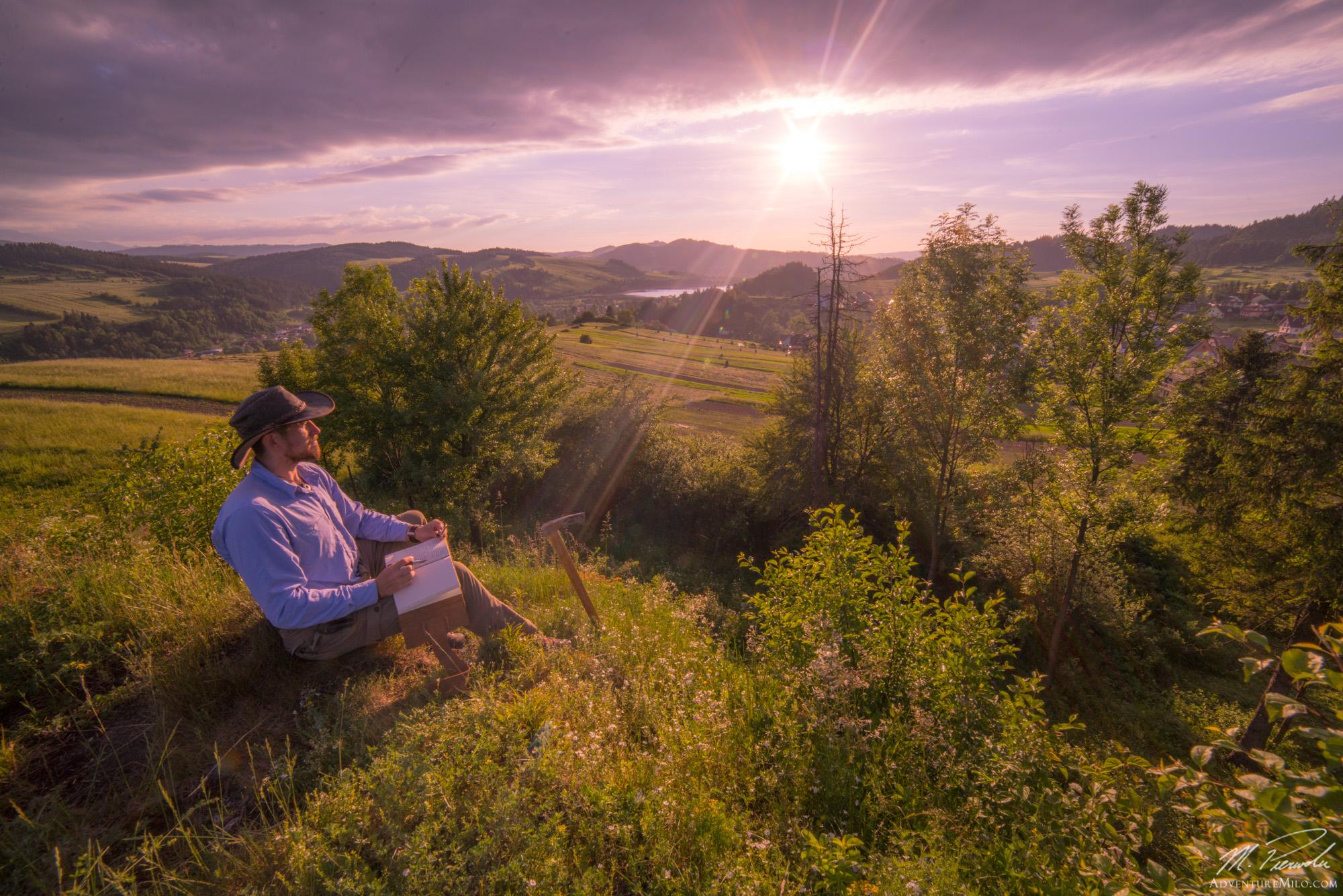 Camping In The Polish Mountains Adventuremilo # Banc Tv But Chene Naturel